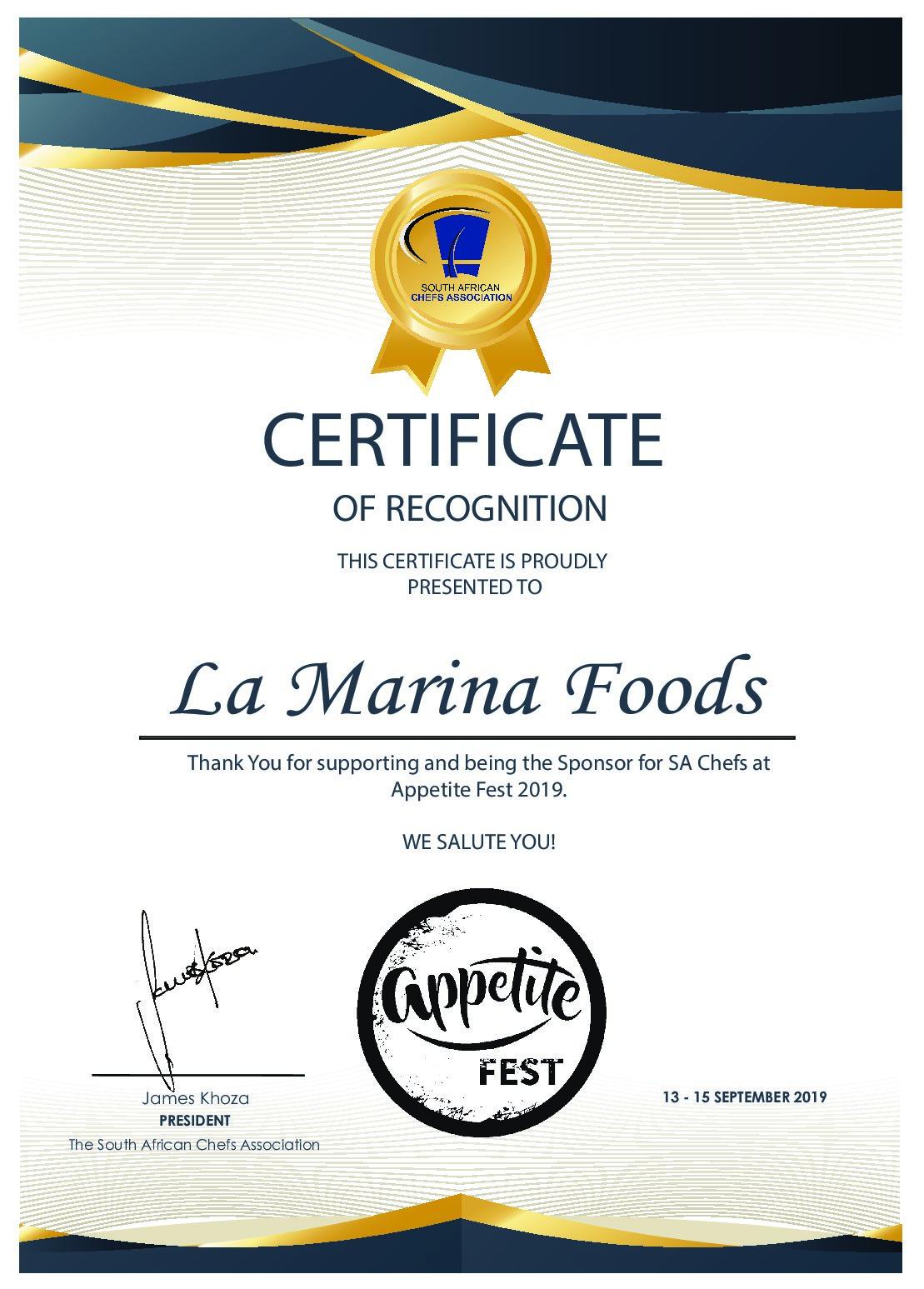 SA Chefs Appetite Fest